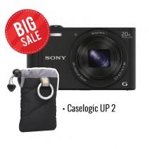 Sony DSC-WX350B zwart met gratis tasje