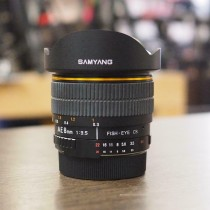 Tweedehands - Samyang Nikon AE 8mm f3.5 FISH-EYE CS