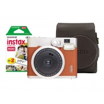 Instant Camera Instax Mini 90 Brown +Film +Case