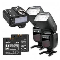 Godox Speedlite V860II Nikon Duo X2 Trigger Kit