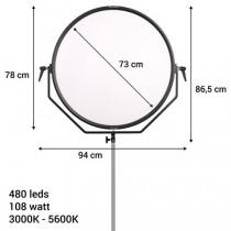Falcon Eyes Bi-Color LED Lamp Sophiez SO-108TD op 230V